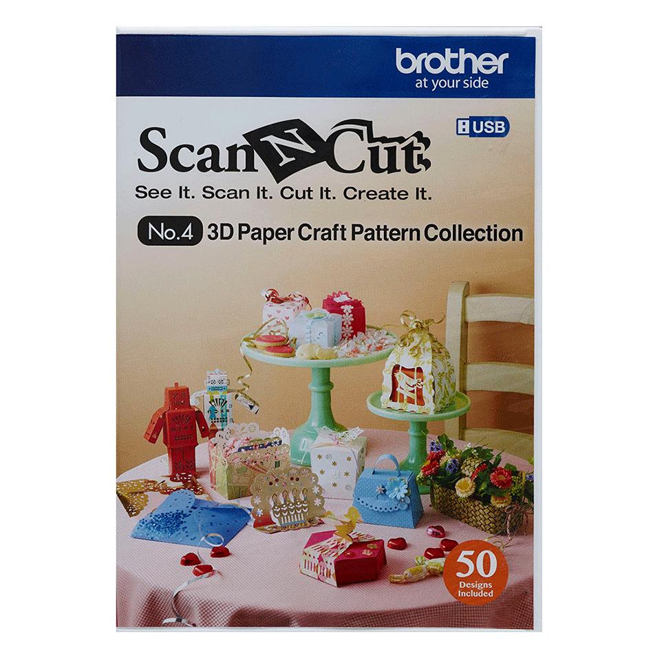 Collezione modelli artistici di carta in 3D CAUSB4 per ScanNCut