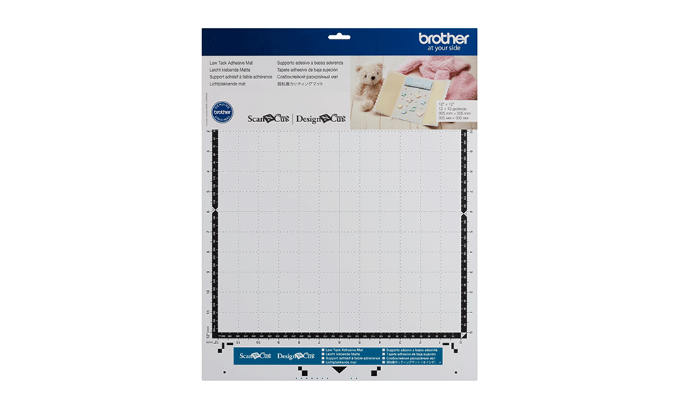 """Brother ScanNCut CAMATLOW12 Low Tack Adhesive Mat 12"""" x 12"""" / 305 mm x 305mm"""