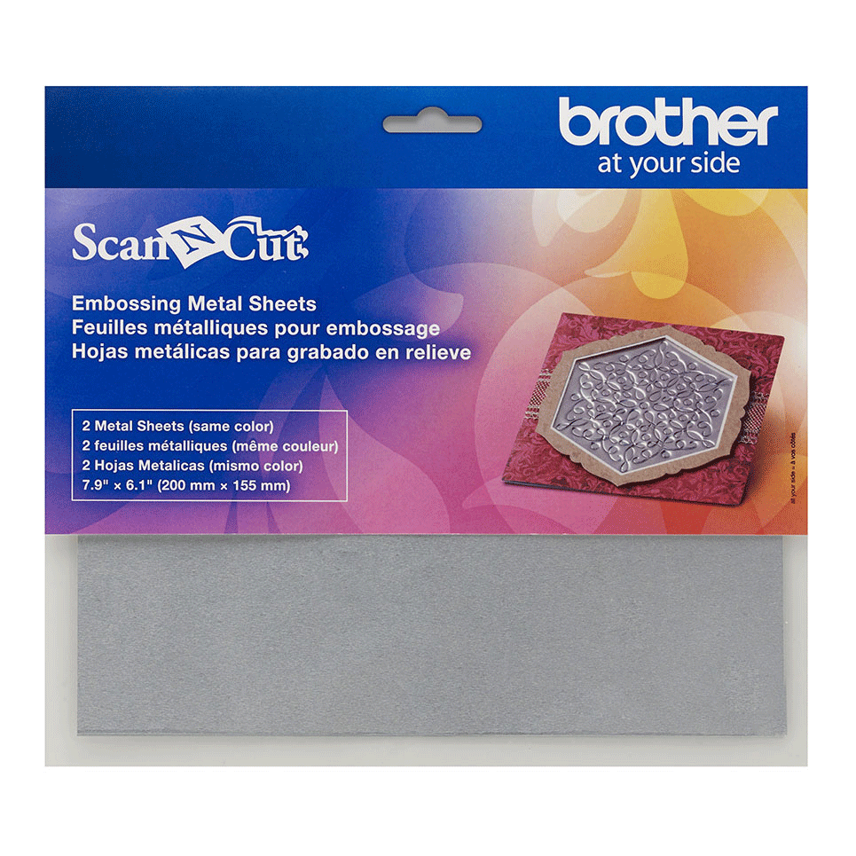 ScanNCut Embossing Silver Sheets CAEBSSMS1