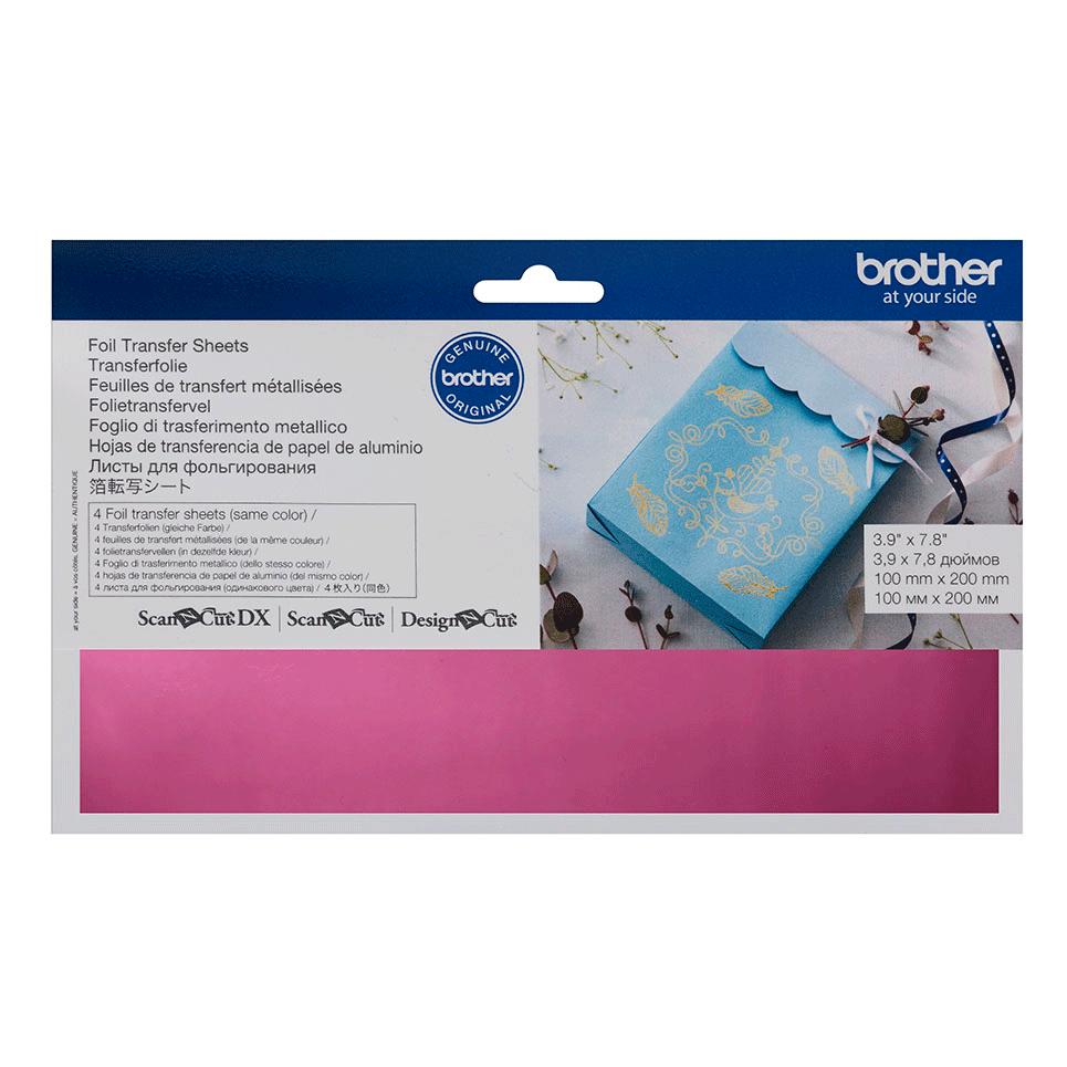 Feuilles de transfert métallisées couleur Rose CAFTSPNK1 pour ScanNCut