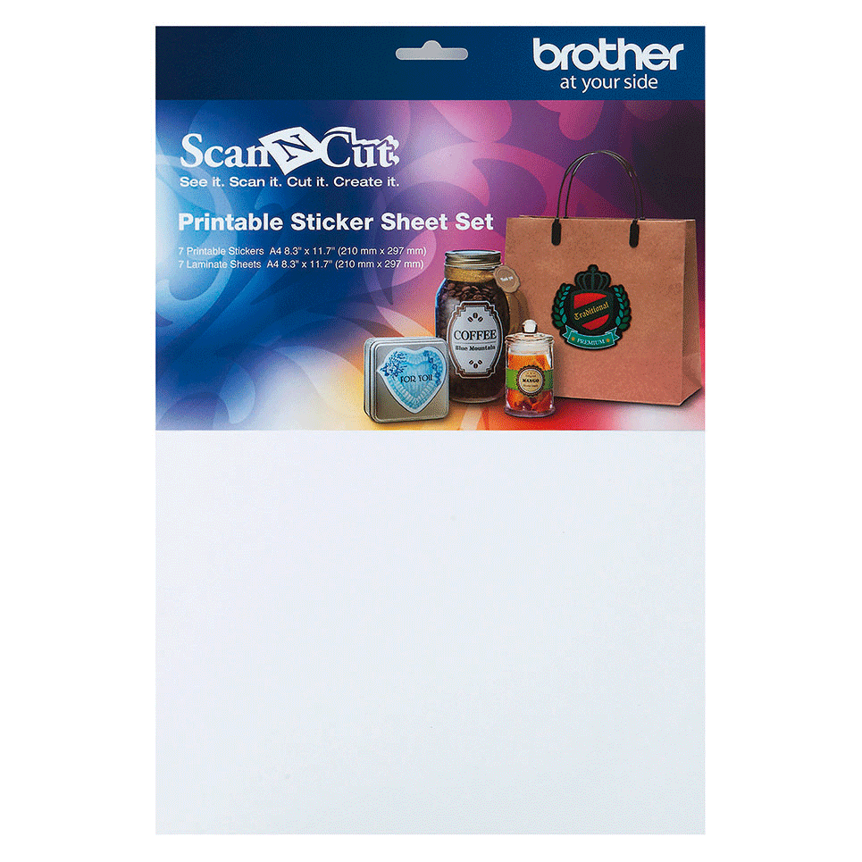 ScanNCut Printable Sticker Sheet Set CAPSS1