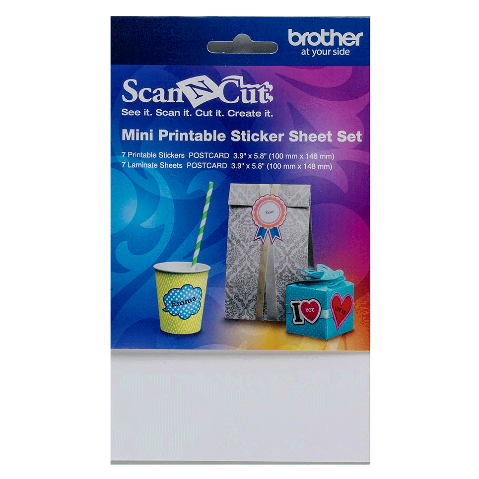 ScanNCut Mini Printable Sticker Sheet Set CAPSSMINI1
