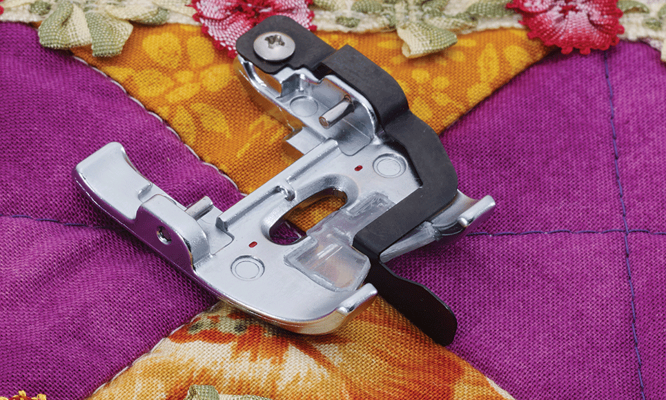 Semelle de piqûre dans la couture F075 adaptable sur pied à double entraînement motorisé DF1