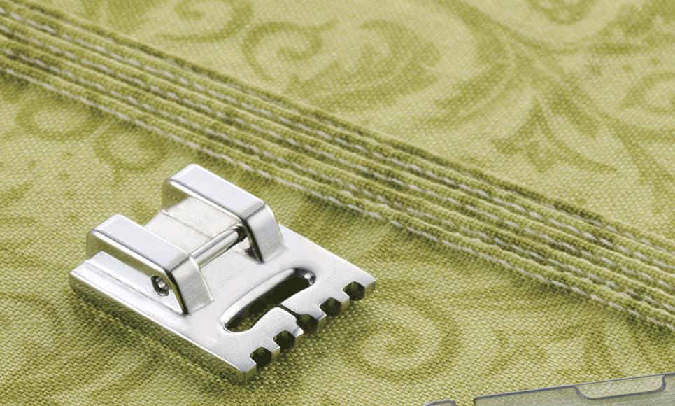 Fijne plisseervoet 7mm F069 (5geleiders)