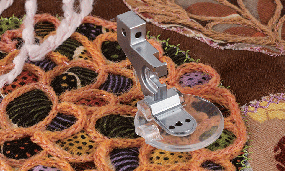Pied pour fil couché F073