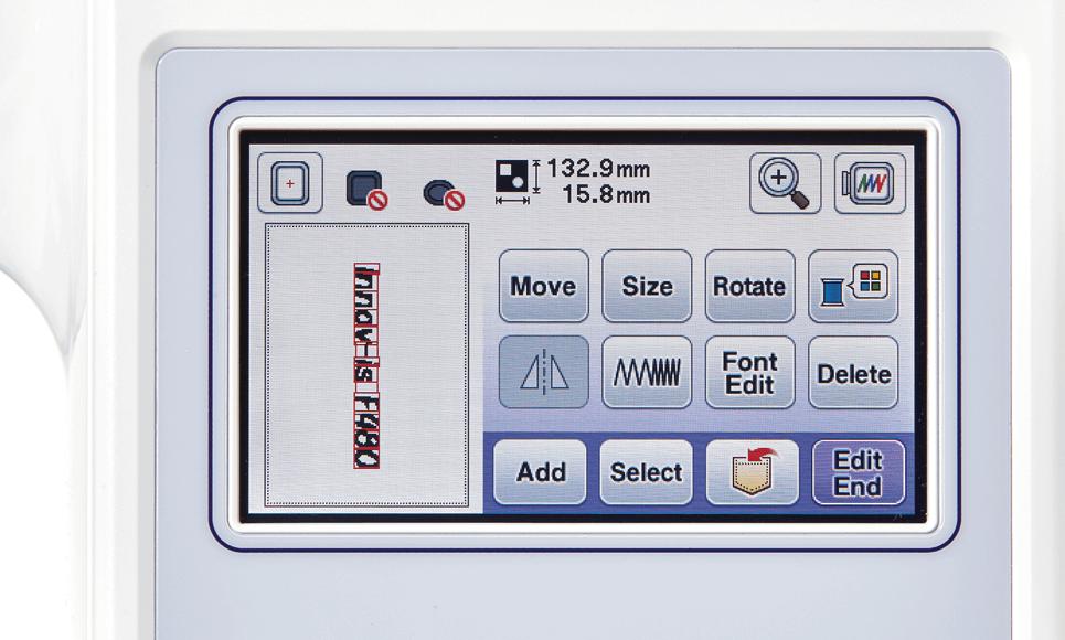 Innov-is F480 Näh- und Stickmaschine 7