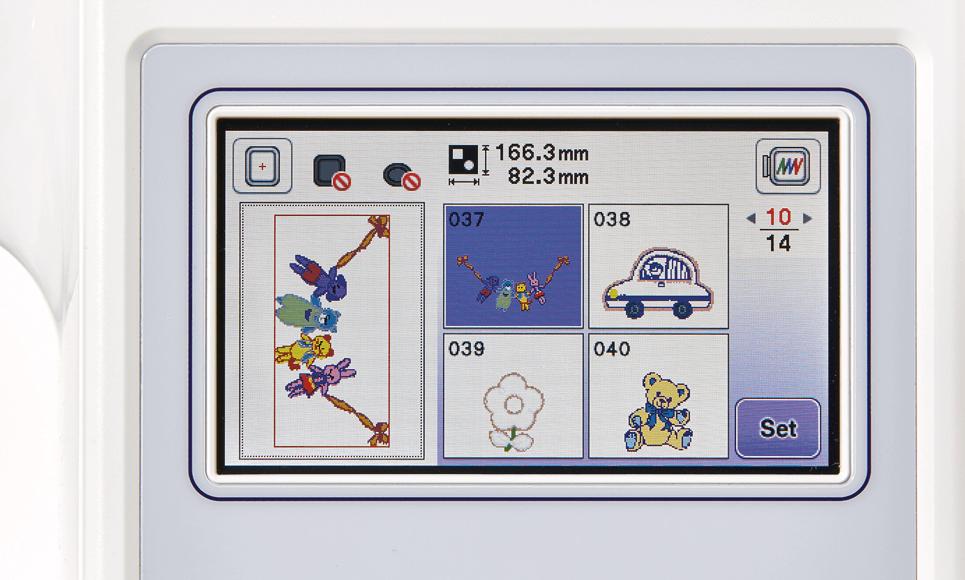 Innov-is F440E embroidery machine 6