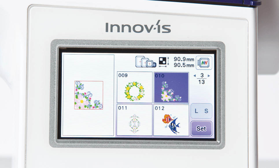 Innov-is NV800E embroidery machine 3