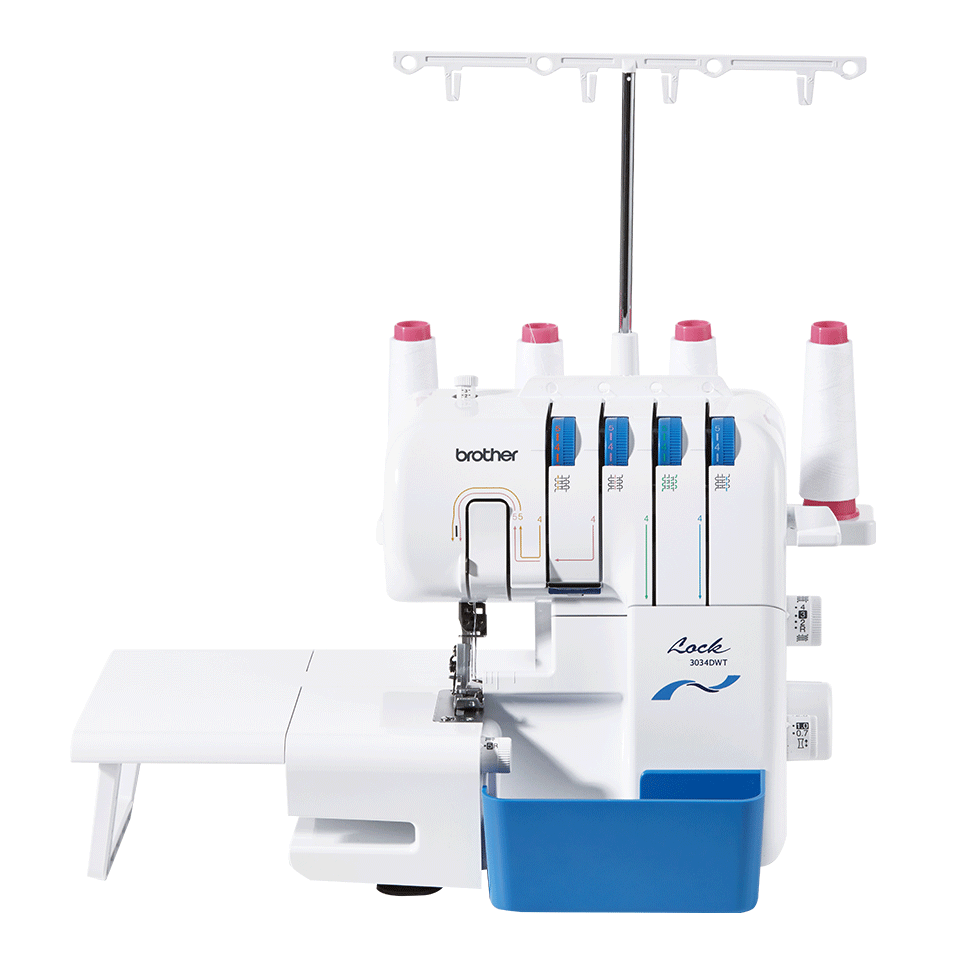 Brother 3034DWT overlocker with wide table attached