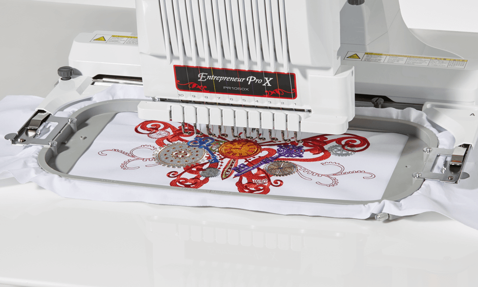 PR1050X embroidery machine 5