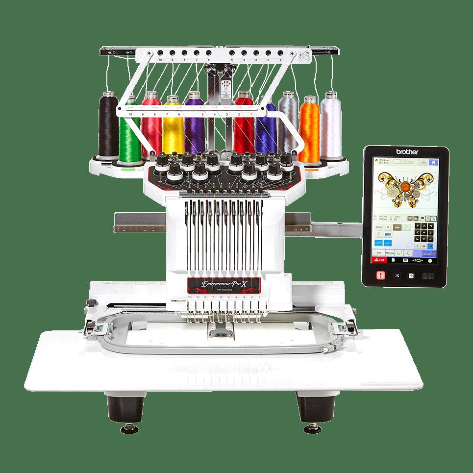 Entrepreneur PR1050X 10-needle embroidery machine for semi-pro use