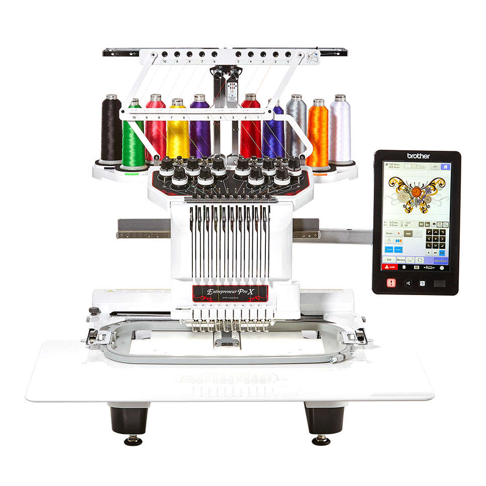 Entrepreneur PR1050X 10-needle embroidery machine for semi-pro use