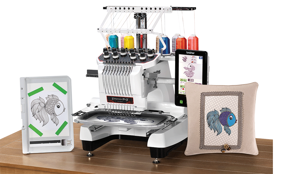 PR1050X embroidery machine 8