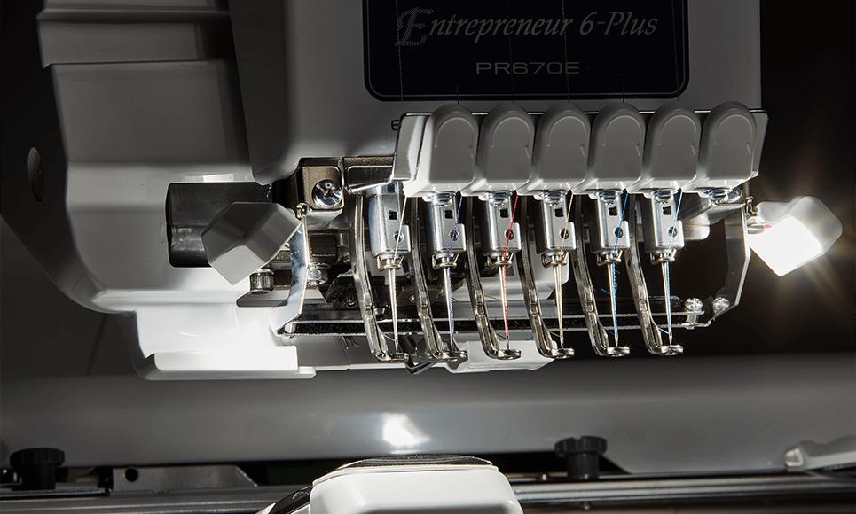 PR670E embroidery machine 7