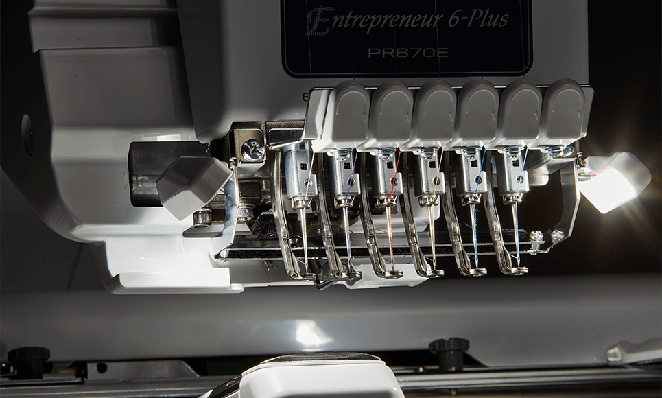 PR670E embroidery machine 7