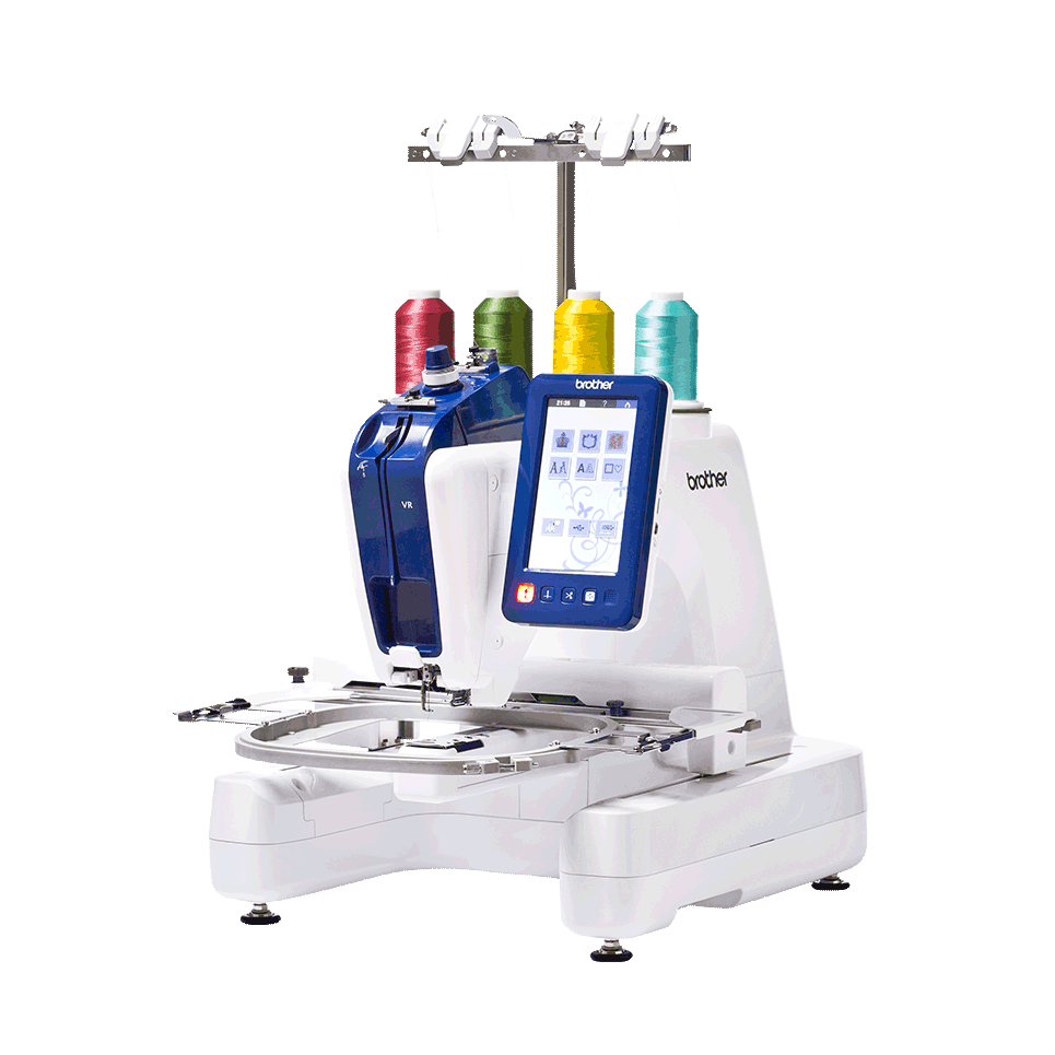 VR embroidery machine