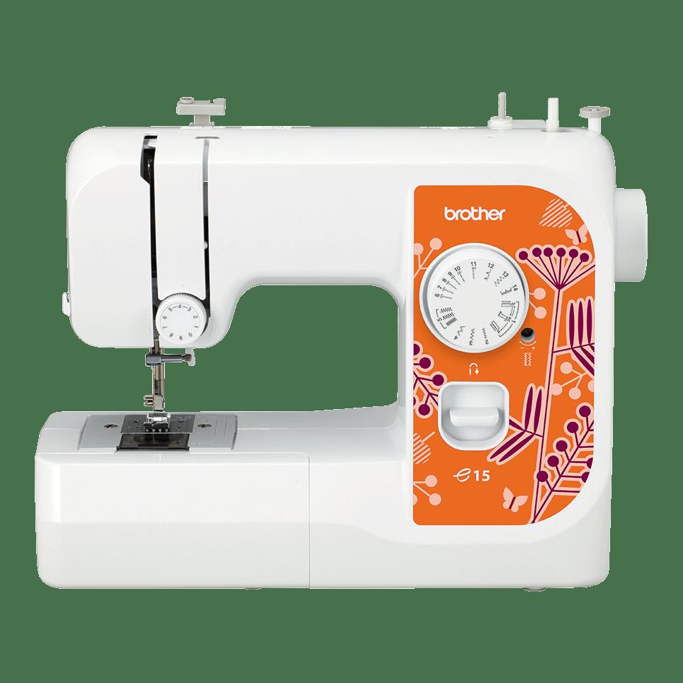 Электромеханическая швейная машина e15 вид спереди