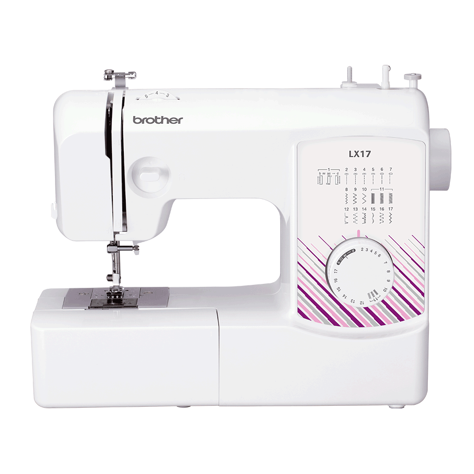 Brother LX17 mechanical sewing machine for beginners front view
