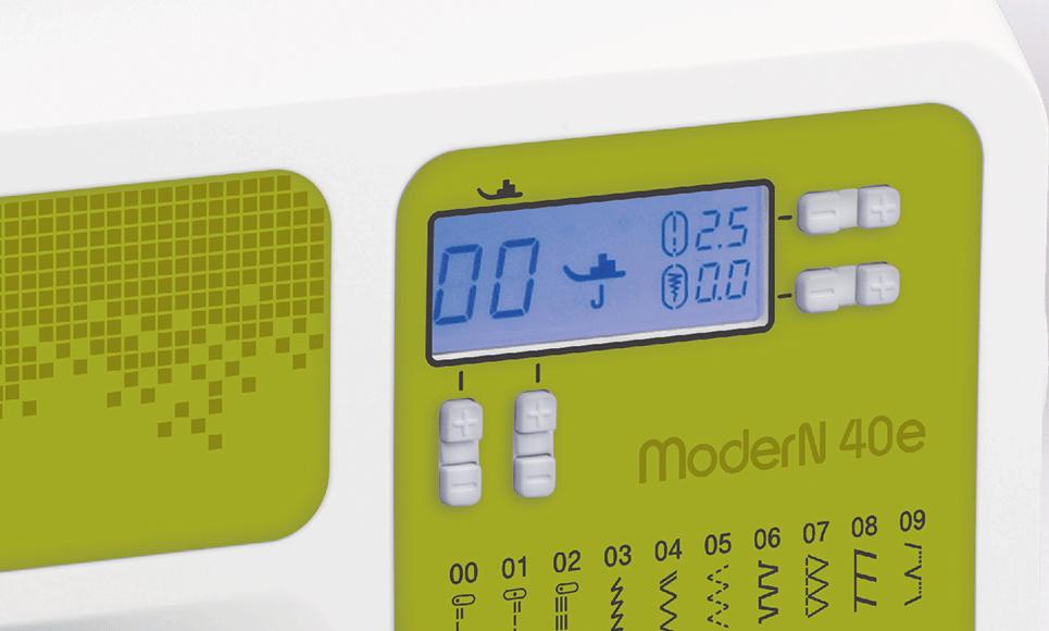 ModerN 40e компьютеризованная швейная машина  8