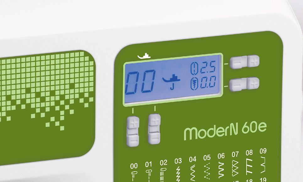 ModerN 60e компьютеризованная швейная машина  8